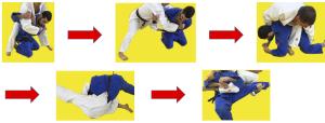 Negli esempi mostrati, non viene assegnato lo shido pre presa alla gamba