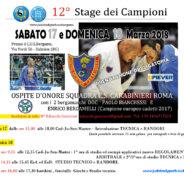 Lo Stage dei Campioni il 17 e 18 marzo a Dalmine (BG)