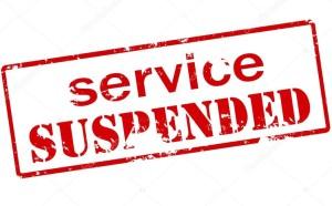 servizio sospeso