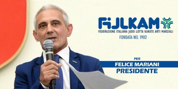 Felice Mariani ufficializza la propria candidatura a presidente della FIJLKAM